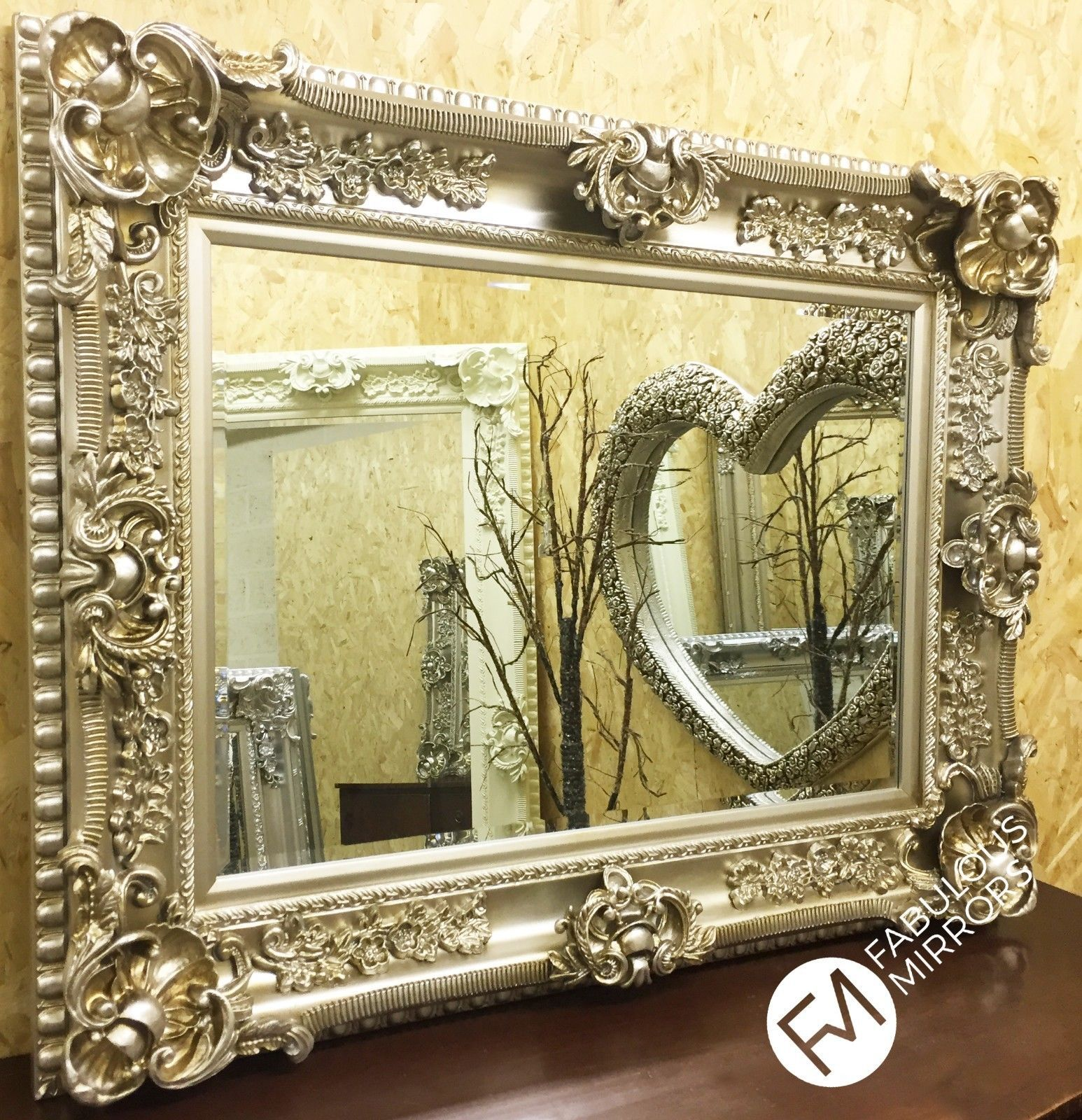 Champagne Ornate Regal Chunky Decorative Wall Mirror - RRP 449 ...